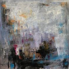 LENA GUAVO Untitled (abstract 0003, multi w/ pale orange) $1,500.00 original, oil on canvas 48″ x 48″, unframed