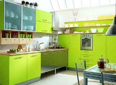 We have many beautiful and cool IKEA kitchen cabinets design ideas with affordable price to remodeling your kitchen. See latest IKEA kitchen products gallery here. Green Kitchen Designs, Green Kitchen Accessories, Colorful Kitchen Decor, Interior Design Kitchen, Kitchen Ideas, Interior Ideas, Metal Kitchen Cabinets, Kitchen Cabinet Colors, Kitchen Colors