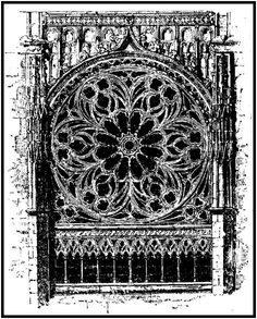 Fig 574: West Window, St. Ouen [detail] (pg701)    James Fergusson: Illustrated Handbook of Architecture - Christian Architecture  book: III - France: Chapter X - Gothic