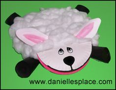 Sheep Paper Plate Craft Kids Can Make from www.daniellesplace.com