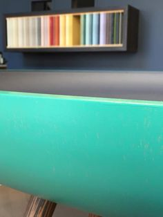 The Paint Makers Co. showroom.  Extraordinarily good #paint and #resin for floors.  108 colors for #design lovers #green #emerald #blue #retaildesign