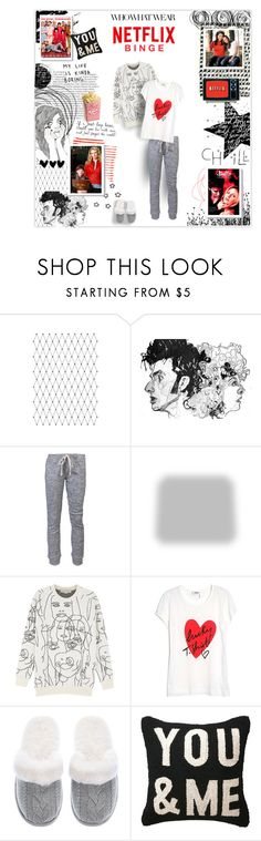 """""""Netflix Binge"""" by jenhoney ❤ liked on Polyvore featuring Balmain, Who What Wear, Brush Strokes, Once Upon a Time, OBEY Clothing, Shabby Chic, STELLA McCARTNEY, Sonia by Sonia Rykiel and Victoria's Secret"""