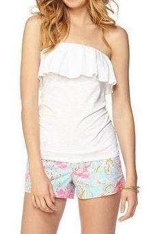 b15a1be4f3 Lilly Pulitzer Wiley Ruffle Tube Top Lilly Pulitzer Tops