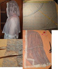 Чем хороши подобные платки? 1) они не спадают с головы даже при поклонах, 2) закрывают плечи, что немаловажно летом, когда хочется одеть сарафан, но из-за открытых плеч приходится от него отказываться 3) очень красивы и эффектны! Особенно на венчании невеста будет невероятно хороша в таком платке Шьется такой платок из гипюра, фистонного кружевного полотна, просто из шелка и обшивается ...