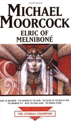 Elric of Melnibone by Michael Moorcock,http://www.amazon.com/dp/1857983343/ref=cm_sw_r_pi_dp_91qisb0V65BBNC5M
