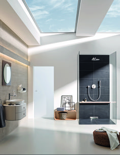 Create a soulful, organic bathroom that's free of clutter by mixing in natural materials and pared-back shapes. GROHE's Essence complete bathroom solution combines great function with the last word in simple style #minimal #bathroom #spa http://www.grohe.co.uk/en_gb/bathroom-collection/mixer-taps-essence.html