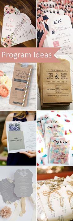 23 Pretty & Unique Wedding Program Ideas. #weddingprogram #weddingideas