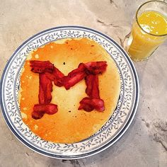 Breakfast fit for a Wolverine. #GoBlue