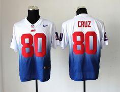 7849ab09882 Nike New York Giants 80 Victor Cruz White Blue Drift Fashion II Elite NFL  Jerseys Nfl