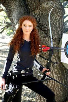 Virginia Hankins Archery Expert. A real-life Merida!!
