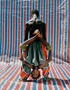 West African Acrobats by Namsa Leuba