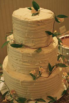 Homemade wedding cake.