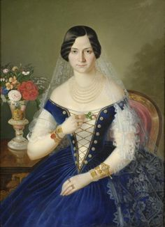 Portrait of Josephine Thuranska, née Babičová Hungarian Women, Female Portrait, Costumes For Women, Victorian Era, Saree, Culture, Clothes For Women, How To Wear, Collection