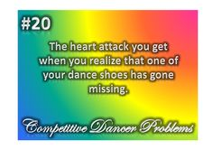 dancer problems this happened to my friend right before a ballet audition.
