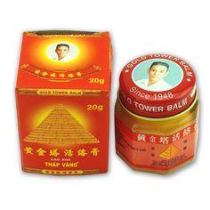 100%オリジナルベトナムゴールドタワーバームバーム軟膏鎮痛パッチマッサージリラクゼーション関節炎不可欠ホワイトタイガーバームc087