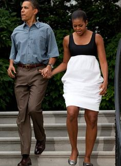 The Black and White Dress  Move aside, LBDs. There's a new dress staple in town. Michelle Obama is a fan of the black and white block dress and so are we.     Want a similar number? We like the Circle Skirt Tank Dress (at WetSeal.com). Wear it to your next cocktail party to channel some first lady charm.