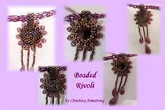 Beaded Rivoli, with a knitted chain necklace