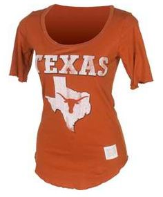 Texas Longhorns Scoop Neck Tee, $26.99. For Fall games, with a jean skirt and cowboy boots. From The University Coop
