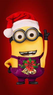 Iphone Wallpaper Ideas : Despicable Me minion with Christmas hat iphone 6 wallpaper for 2014 Halloween – Mobil & WhatsApp Minion Halloween, Minion Christmas, Christmas Hat, Christmas Quotes, Cute Halloween, Christmas Pictures, Merry Christmas, Christmas Clipart, Disney Christmas