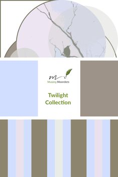 The Twilight Collection: fabric designs by Lisa G Hunter of Musing Meanders. #fabric #surfacedesign #blue #grey #spoonflower #musingmeanders #lisaghunter #stripes #nature #twilight