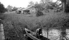 Plantage Mon Souci....woningen Javaanse contractarbeiders.