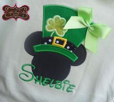 mickey mouse st. patricks day applique shirt   Cuddle Bugs Gifts