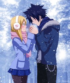 cold hands (Lucy & Gray: Fairy Tail) by Milady666.deviantart.com on @deviantART