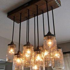 mason jar lamp/chandelier??? yessss!!