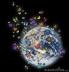 Illustration about Colorful butterflies flying aroung a glowing earth. Illustration of butterfly, ecologist, environment - 9329631 You Give Me Butterflies, Butterflies Flying, Beautiful Butterflies, Thyroid Cure, Thyroid Health, Thyroid Issues, Thyroid Gland, Howard Zinn, Zen