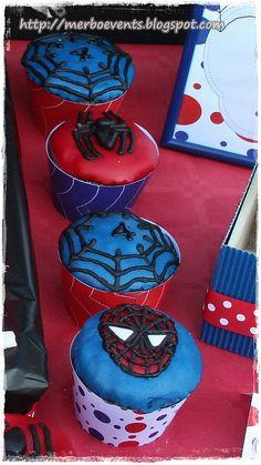 wrappers cupcakes2. Kit de fiesta spiderman. Merbo events by Merbo Events, via Flickr