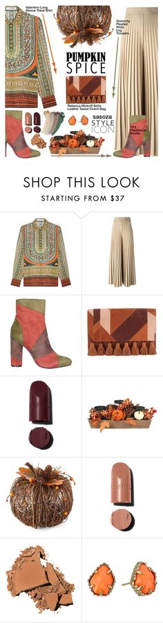 """Pumpkin Spice Style by Sasoza"" by sasooza on Polyvore featuring Valentino, Givenchy, Rebecca Minkoff, Chanel, Bobbi Brown Cosmetics, Kendra Scott and Gucci"