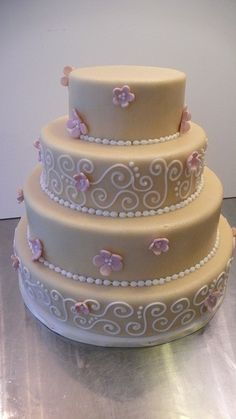 Natural Marzipan Wedding Cake by CAKE Amsterdam - Cakes by ZOBOT, via Flickr