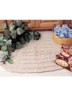 Traditional Oval rug to crochet