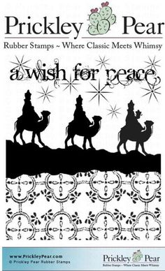 A Wish for Peace -  Christmas Cling Rubber Stamp