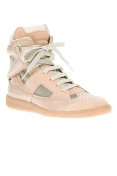 The perfect transitional shade: pale pink hightops!