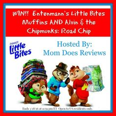 Enter to win a pack of Entenmann's Little Bites and Alvin & The Chipmunks: Road Trip which is perfect for spring break with the kids!