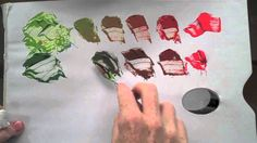 Colour wheel Red & Green Complementary colour mixing basics.. willkempartschool