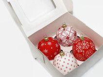 Weihnachtskugeln in Geschenkbox 4 Stück