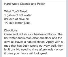 Hardwood floor cleaning tip
