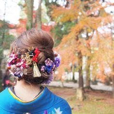 お花で飾った、はんなり可愛い和装のブライダルヘアカタログ | marry[マリー]