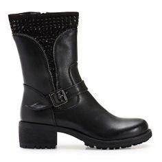 SEDICI Μποτάκια Sedici με strass μαύρα (SY175-W12) 2018 Biker, Boots, Fashion, Crotch Boots, Moda, Fashion Styles, Shoe Boot, Fashion Illustrations