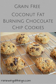 Coconut Fat Burning Chocolate Chip Cookies