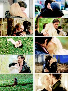 Colin O'Donoghue -Killian Jones - Captain Hook Jennifer Morrison - Emma Swan on Once Upon A Time