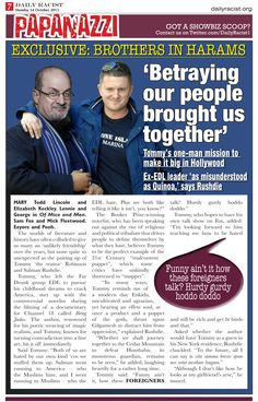 The Bromance Between Tommy Robinson and Salman Rushdie www.dailyracist.org