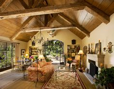 Olive Mill - mediterranean - living room - santa barbara - J. Grant Design Studio