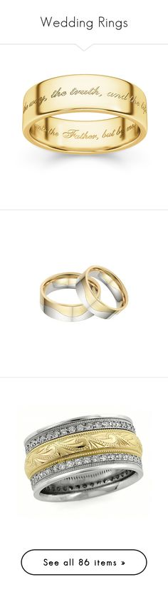 """Wedding Rings"" by applesofgoldjewelry ❤ liked on Polyvore featuring jewelry, rings, 14 karat gold ring, 14k jewelry, yellow gold rings, 14k yellow gold jewelry, 14 karat gold jewelry, diamond band wedding ring, paisley jewelry and wedding rings"
