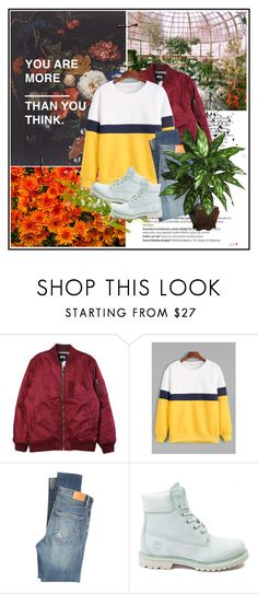 """""""You are more."""" by killerqueen188 ❤ liked on Polyvore featuring Balmain, Stussy, Citizens of Humanity, Timberland and Nearly Natural"""