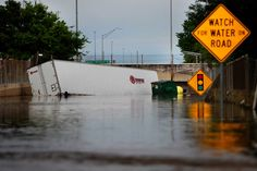 Powerful thunderstorms have spawned major flooding in the Houston area that officials are comparing to Tropical Storm Allison, leading to three fatalities so far, damaging hundreds of homes and paralyzing the region.