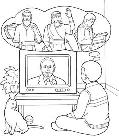monson during general conference childrens coloring page from ldsorg