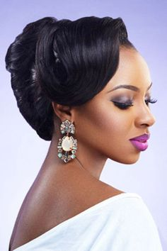 Fabulous Wedding Hairstyles Black Women And Hairstyles On Pinterest Hairstyle Inspiration Daily Dogsangcom